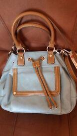 CLARKS hand/shoulder bag - blue/brown