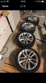 """Vauxhall 17"""" 215/45/17 Corsa D sxi alloy wheels look great"""