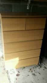 Ikea Malm 6 chest of drawer