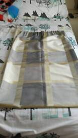 Lovely grey and yellow lined curtains