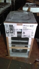 HOTPOINT white Gas Cooker ex display