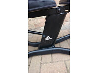 Adidas Exercise Bench in Excellent Condition - Ideal for free weights/bench exercises - hardly used
