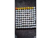 100 golf balls.