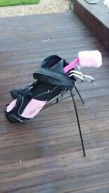 Girls golf club set and stand bag