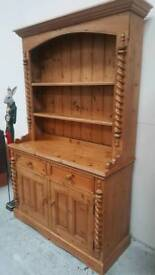 Rustic solid pine dresser comes in 2 parts can deliver 07808222995