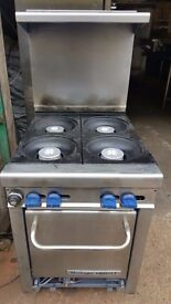 COMMERCIAL MONTAGUE GRIZZLY 4-RING COOKER OVEN FREE STANDING AS SEEN IN THE PICTURE
