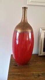 Large red vase