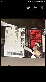 Robbie Ticket Fridsy 9th June Standing