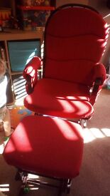 Breast Feeding Rocking Chair and Stool. Bargain £65