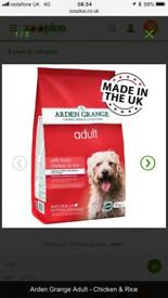 Arden Grange chicken and rice 12kg dog food