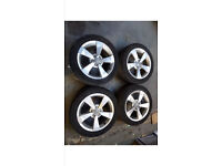 Audi A1 Alloy Wheels Set Of 4 With Good Tyres 2015-2016