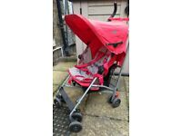 Maclaren Globetrotter stroller - reclining, lightweight, with rain cover - used but well-maintained