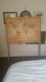 Free Handmade map headboard