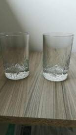 X6 Whisky glasses. Heavy weight