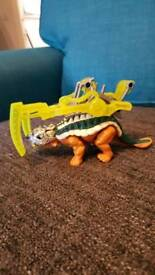 Imaginext dinosaur come with its own armour