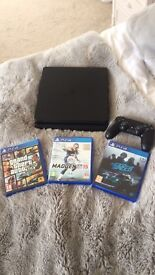 PS4 Slim Latest Model CUH-2016 Wifi HD Including Grand Theft Auto Five & 2 other games