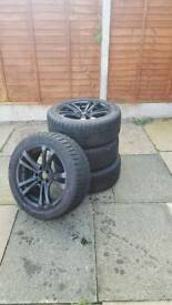 Winter tyres and alloys for sale 245/45/17 wheel nuts included