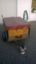 Small light trailer, 24 cubic feet