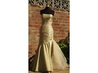 Long prom dress / Evening gown, mermaid / fishtail shape, size 8