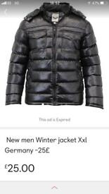 Men winter jacket XXL size
