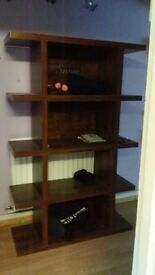 Solid wood shelves/ bookcase