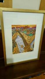 limited edition signed and numbered print of Newcastle