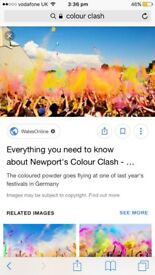 5 colour clash tickets to sell