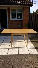 Solid Beech extending dining table