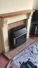 Full fireplace with Valor gas Fire