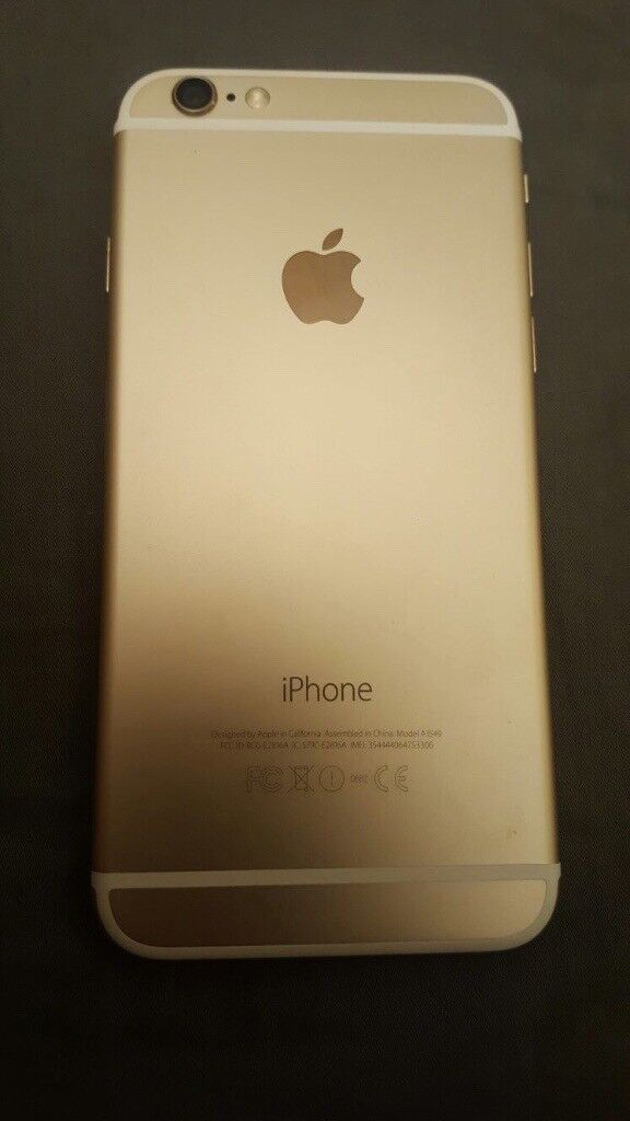 Iphone 6 16GB Unlocked Gold Cracked Screen