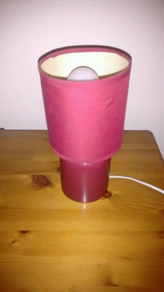 Red Bedside / table / desk lamp