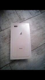 iPhone 8plus unopened 64GB in gold
