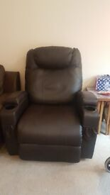 Relciner chair leather
