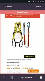 BNIB big ben deluxe harness c/w adjustable fall arrest webbing lanyard size med to xl