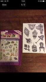 Rubber stamps set x 2