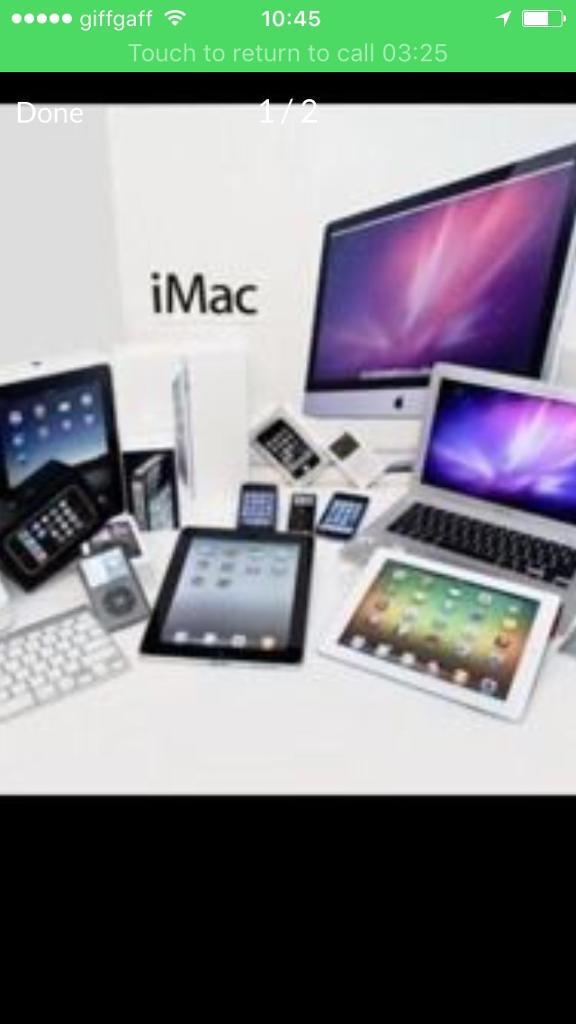 Wanted iPhone apple watches iPads etc