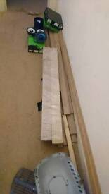 Oak architrave and 100 x 100 post