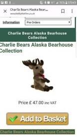 Charlie bear by bearhouse bears (alaska) brand new condition!