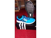 Adidas mens blue duramo 7m running shoes, size 11, v.g.c. £20