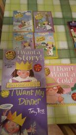 4 LITTLE PRINCESS DVDS & 3 BOOKS but 5 STORIES