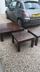 Reduced Coffee table and 2 side tables in very good condition £75