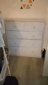 Large set of solid wood drawers needs a wee paint and big wardrobe stunning