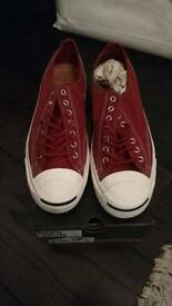 Converse brand new rust coloured