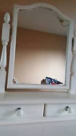 Cream dresser with mirror