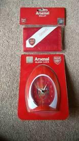 Brand New - Arsenal Alarm Clock & Wallet