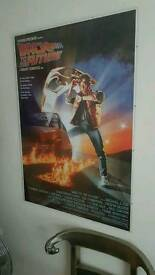 A1 Reproduction Framed Back To The Future poster