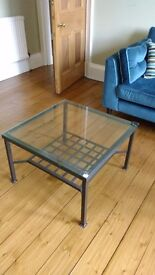 Vintage iron/glass coffee table (living room)