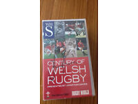 Century Of Welsh Rugby Presented by Jonathan Davies VHS Tape (signed copy)