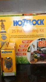 Hozelock Hosereel + Lawn Sprinkler. Free Pot Watering Kit + Timer. All new + unused