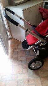 Quinny red pushchair